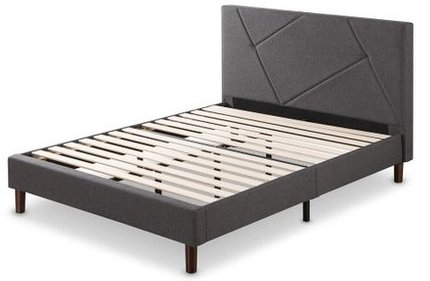 Judy Upholstered Platform Full Bed Gray