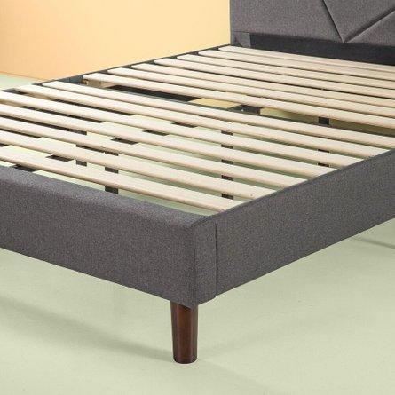 Judy Upholstered Platform Queen Bed Gray