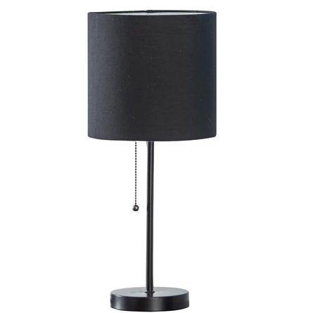 "Jason 19"" Table Lamp Black"