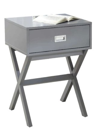 Cobb End Table With Storage Gray