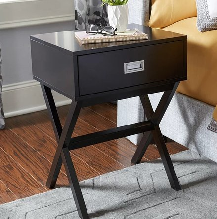 Cobb End Table With Storage Black