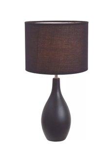 """Helena Oval Base 19"""" Table Lamp Black"""