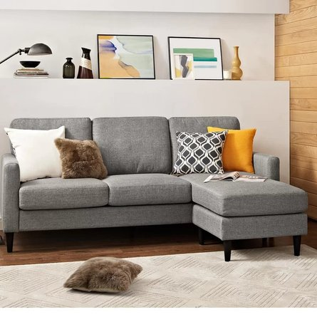 Edhas Reversible Sectional Gray