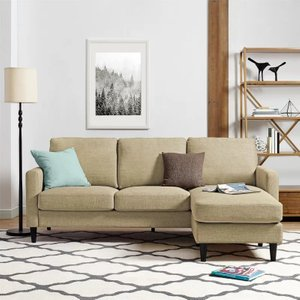 Cruz Reversible Sectional Beige