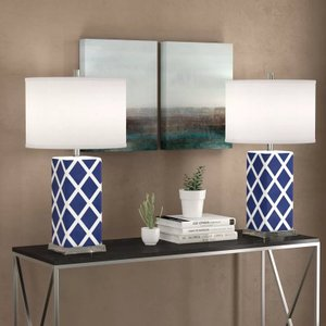 Kirk Table Lamp Navy (Set of 2)