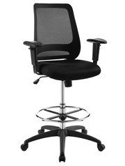 Forge Mesh Drafting Chair Black