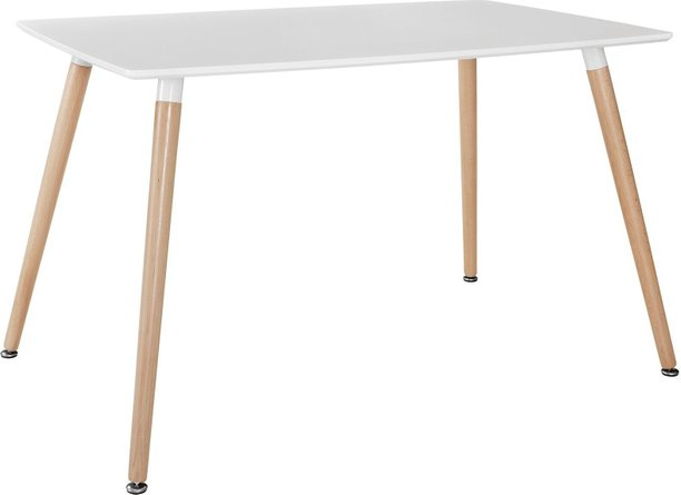 Field Rectangle Dining Table White