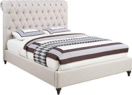 Devon Transitional Queen Bed Beige