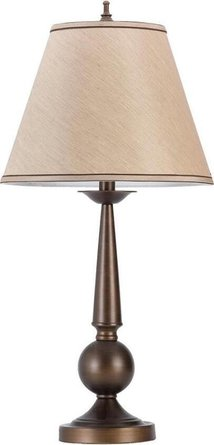 Cone Shade Table Lamps Bronze & Beige (Set Of 2)