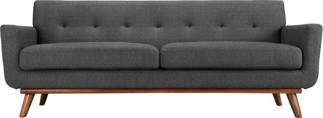 Engage Upholstered Fabric Sofa Gray