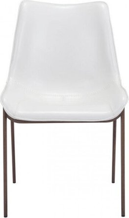 Magnus Dining Chair White And Walnut (Set of 2)
