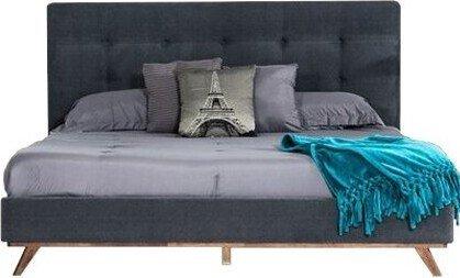 Addison Mid-Century Modern Queen Bed Gray