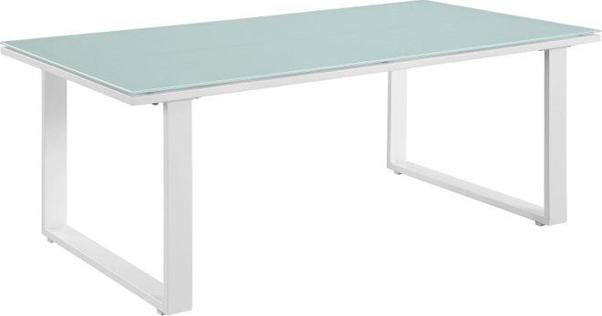 Fortuna Outdoor Patio Coffee Table White