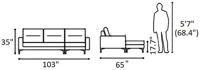 Ephemeral Sectional (RHF) Beige
