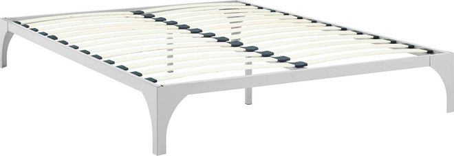 Ollie Queen Bed Frame Silver
