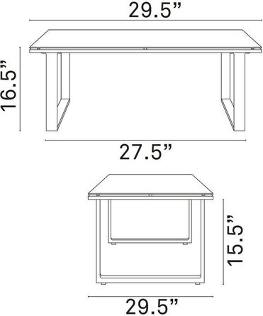 Fortuna Outdoor Patio Side Table White