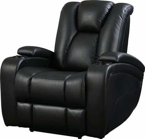 Delange Motion Power Recliner Chair Black