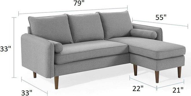 Revive Reversible Sectional Sofa Light Gray