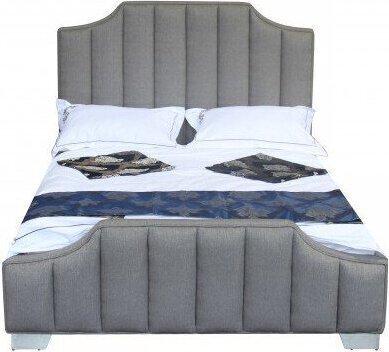 Teresa Contemporary Queen Bed Gray