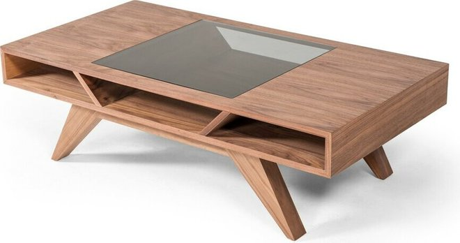 Dublin Modern Coffee Table Walnut
