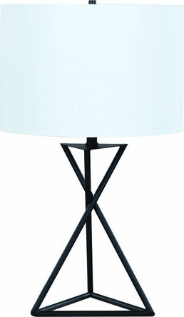 Drum Table Lamp White And Black