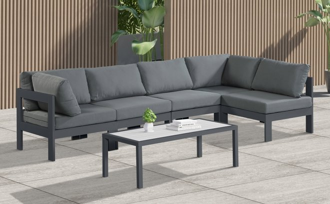 Nizuc Outdoor Patio Modular Sectional Gray