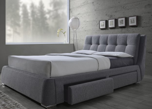 Fenbrook Transitional Queen Bed Gray