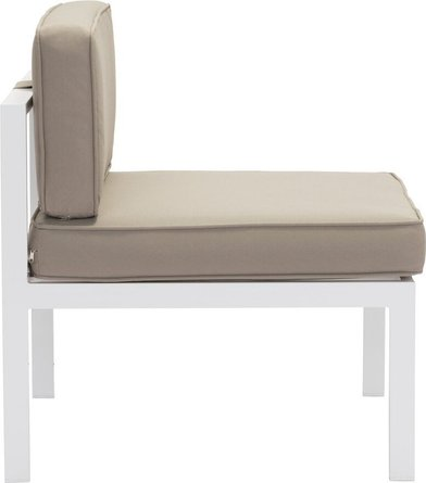 Golden Beach Middle Chair White & Taupe (Set of 2)