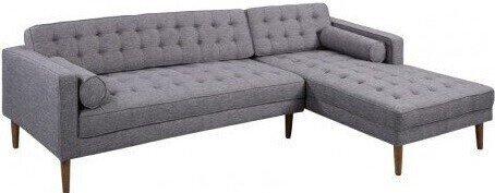 Achernar Mid-Century Modern Sectional Sofa Dark Gray