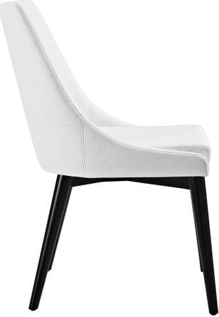 Viscount Vinyl Dining Chair White