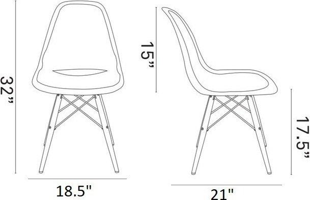 Pyramid Dining Chair Black