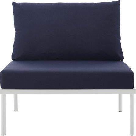 Harmony Armless Outdoor Chair White & Navy