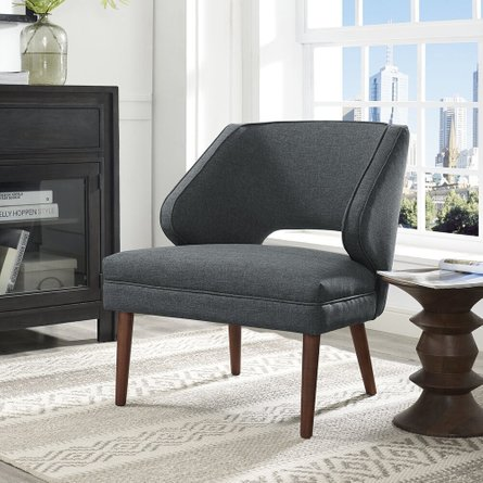 Dock Upholstered Fabric Armchair Gray