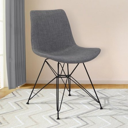 Bret Contemporary Dining Chair Charcoal
