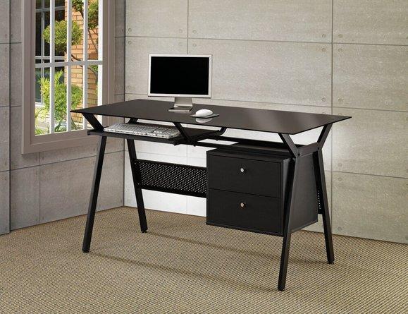 Casual Computer Single Seater Desk Black