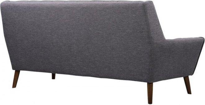 Tucana Mid-Century Modern Sofa Dark Gray