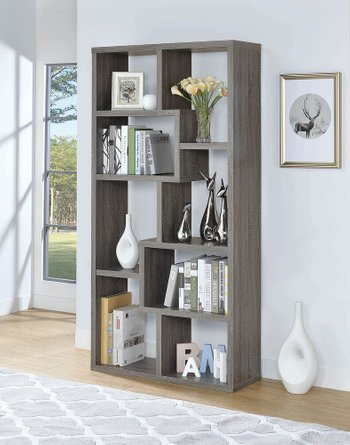 Contemporary Bookcase Weathered Gray