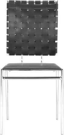 Criss Cross Dining Chair Black (Set of 4)