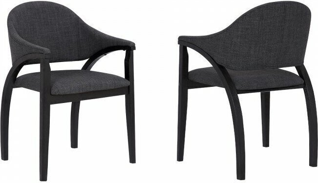 Fornax Armed Contemporary Dining Chair Black