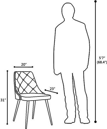 Aisne Mid-Century Dining Chair Gray