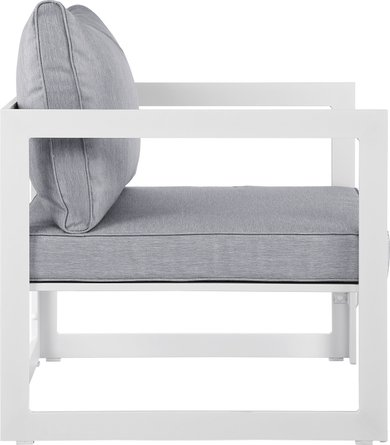 Fortuna Outdoor Armchair White & Gray