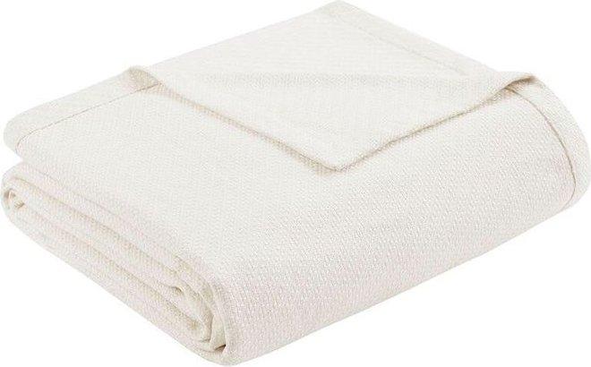 Liquid Cotton Full   Queen Blanket Ivory