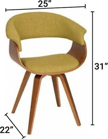 Laura Modern Chair Green And Walnut