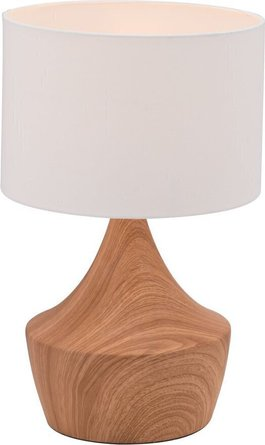 Kelly Table Lamp White & Brown