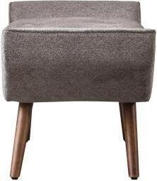 Newcastle KD Fabric Tufted Bench Tweed Gray