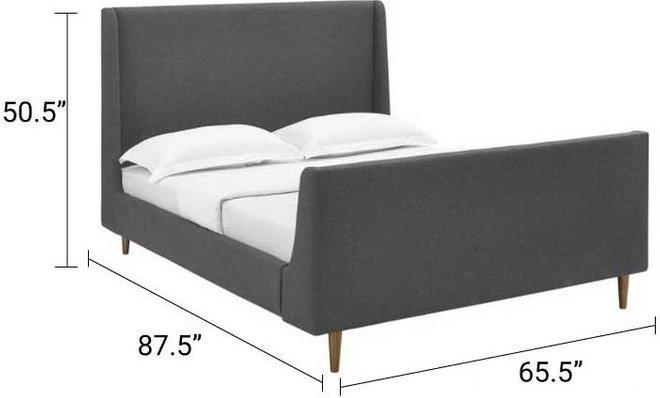 Aubree Queen Bed Gray