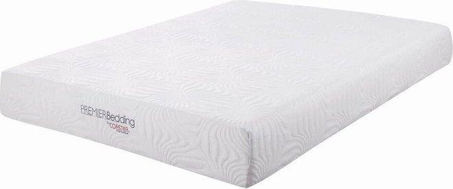 "Key Memory Foam Eastern King Mattress 10"" White"