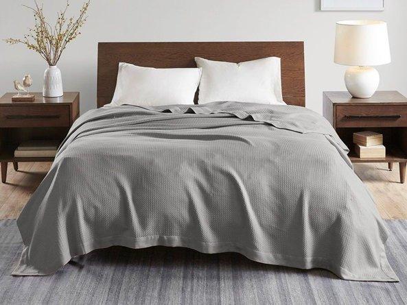 Egyptian Cotton Twin Blanket Gray