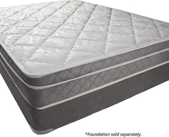 "Kalina 9"" Euro Pillow Top Full Mattress White & Gray"
