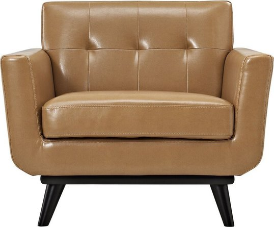Engage Bonded Leather Armchair Tan